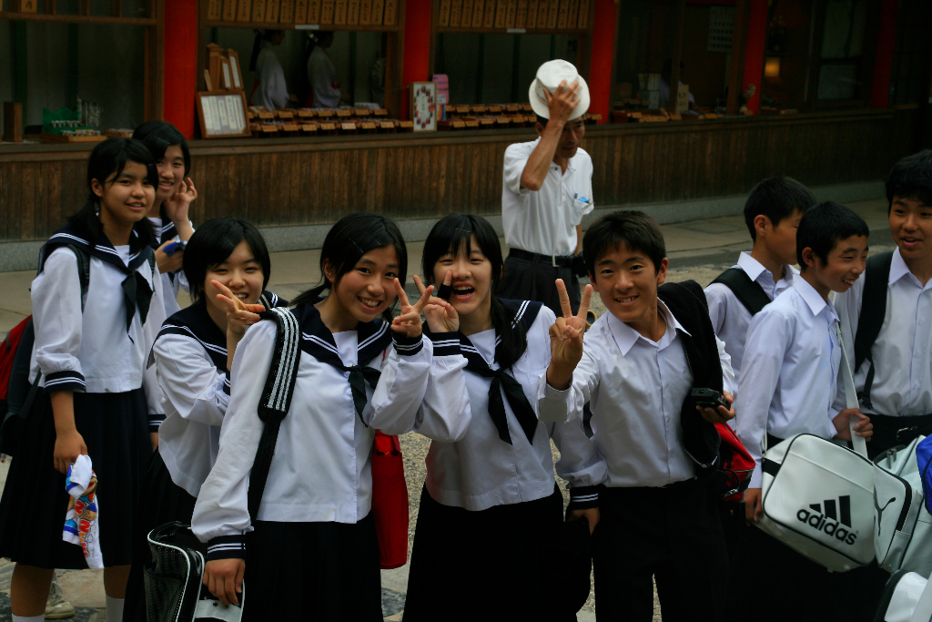 Typical japanese students