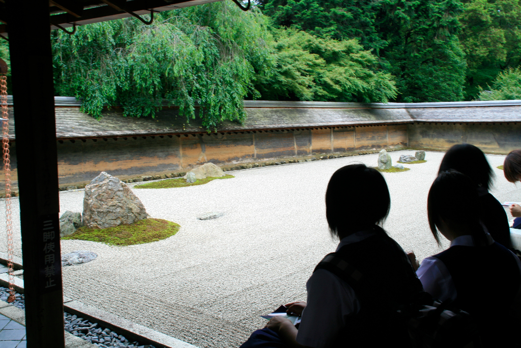 Zen stone garden at Ryoan-ji Temple