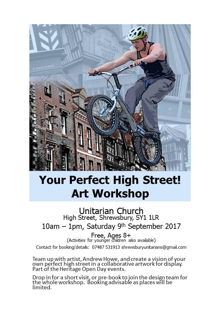 Your Perfect High Street, Art Workshop, Unitarian Church Sat 9th Sept