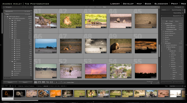 Lightroom training slide and link to ADOBE