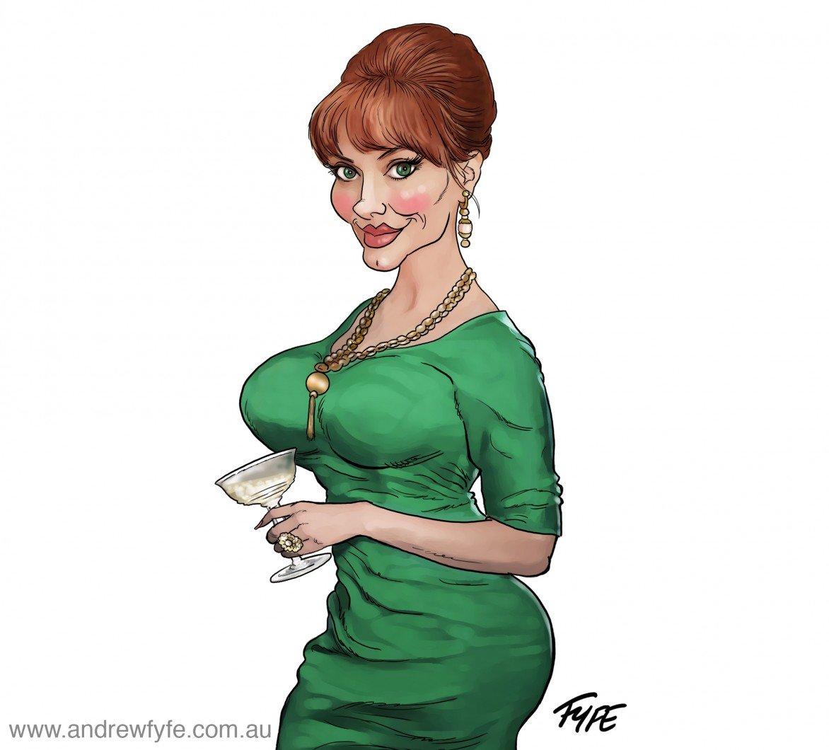 Joan Holloway, Joan Mad Men, Mad Men, Joan Holloway caricature,