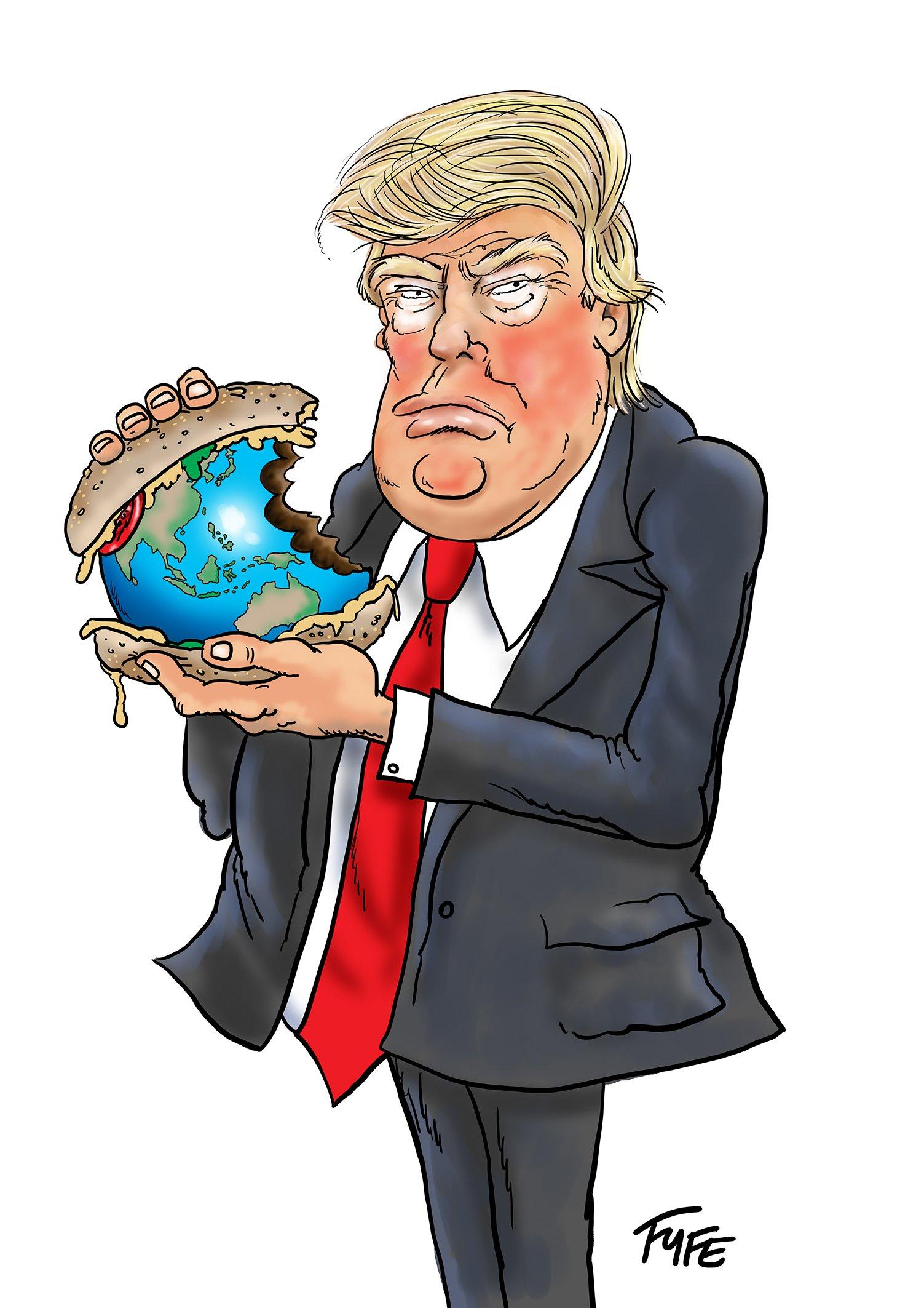 Donald Trump caricature, Trump caricature, Donald Trump cartoon, Trump cartoon