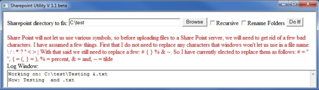 SharePoint File Fix