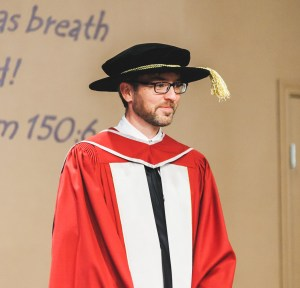 Andrew K. Gabriel at convocation