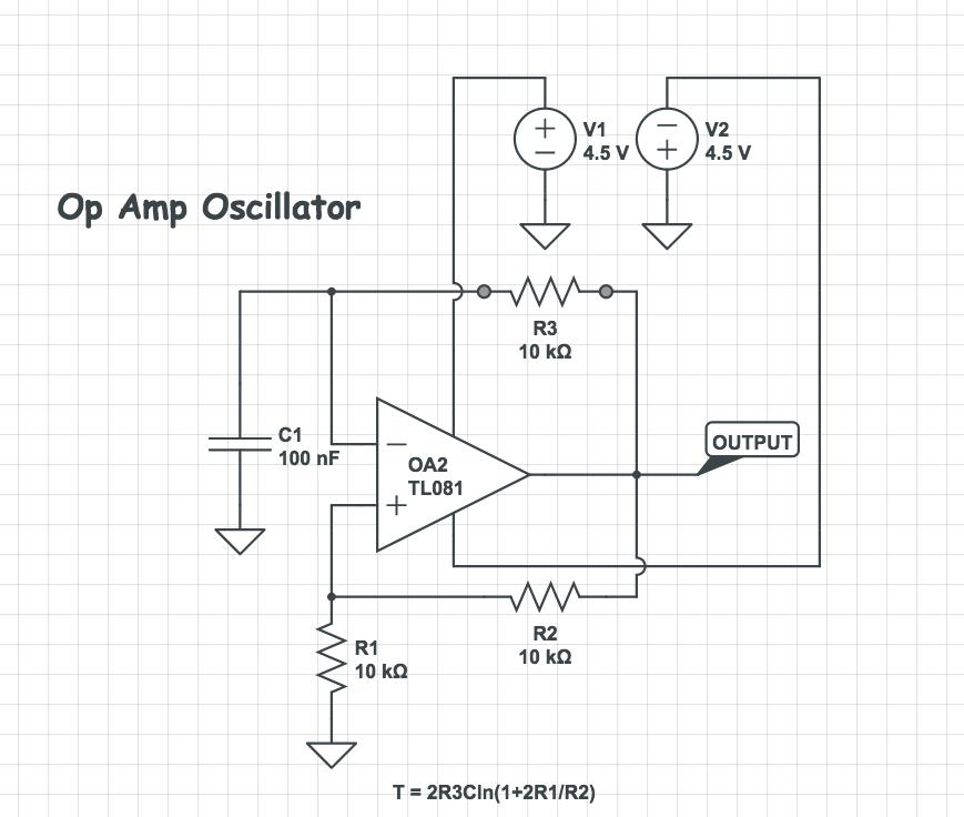 Op Amp Oscillator Circuit