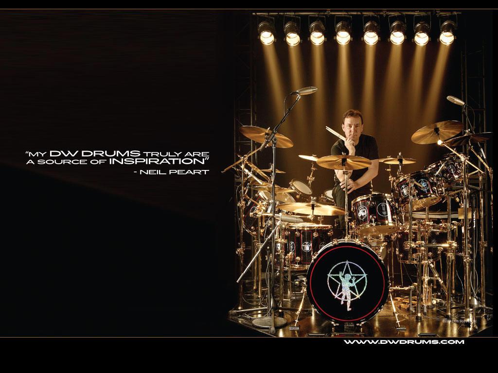 Neil Peart Drum Set Wallpaper Hd