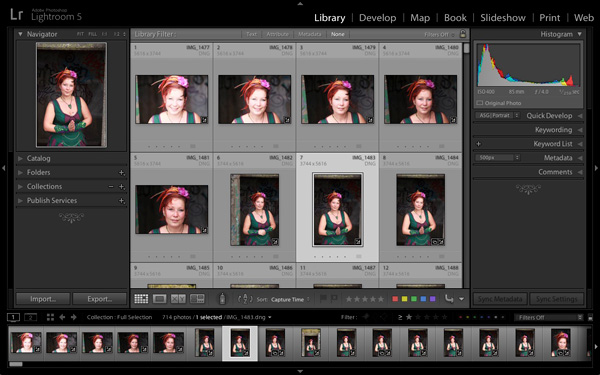 Lightroom 5 interface