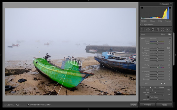 Processing fog photos in Lightroom