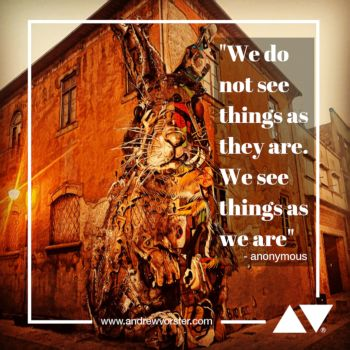 We do not see things as they are