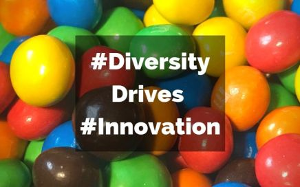 Multicolour M&M's depicting diversity in innovation