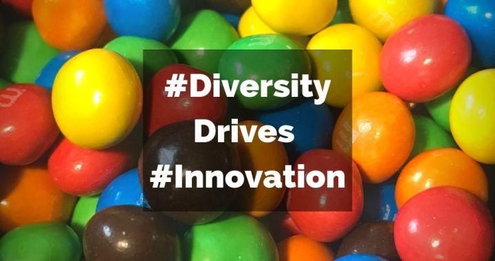 Multicolour M&M's depicting diversity in innovation