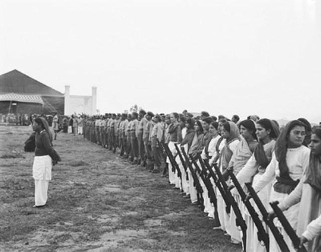The Women's Militia at Srinagar airfield