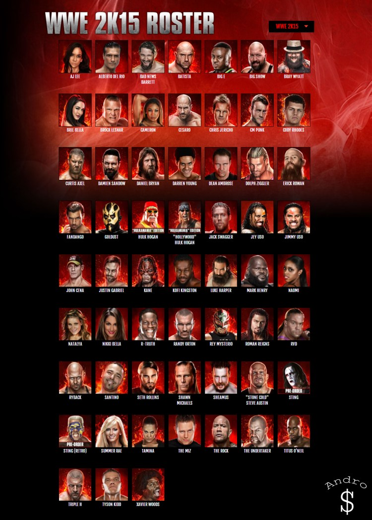 WWE 2K15 Roster - Andro Dollar