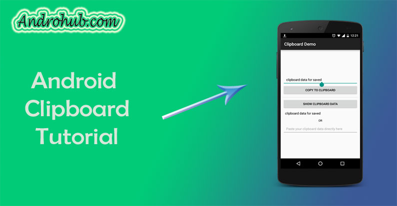 Android Clipboard Tutorial - Androhub
