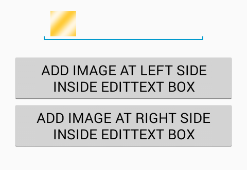 Add image icon inside EditText android programmatically