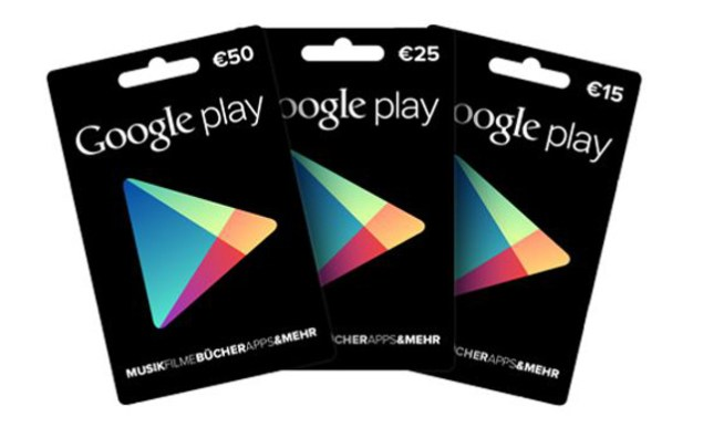 Guthabenkarten für Google Play