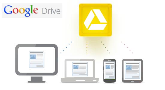 Sämtliche Dateien für Desktop-Rechner, Tablets und Smartphones im Google Drive speichern (c) Google