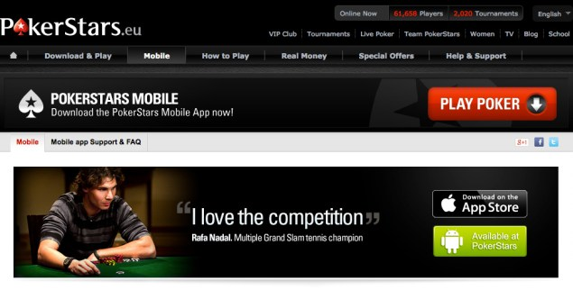 Texas Holdem bei Pokerstars