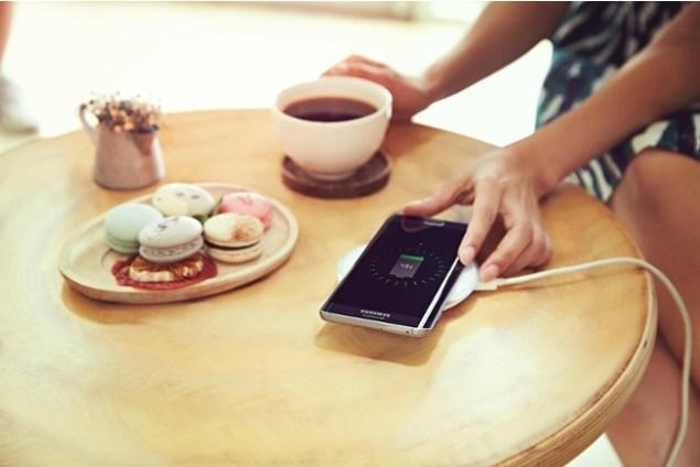 induktives Laden Smartphone
