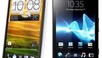 SONY XPERIA S versus HTC ONE X