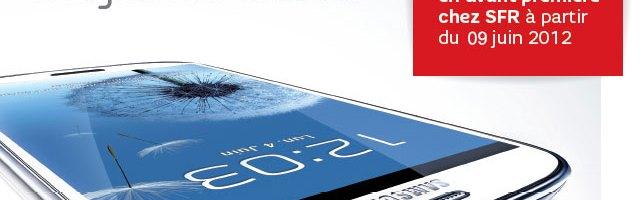 Le Samsung Galaxy S3 chez SFR