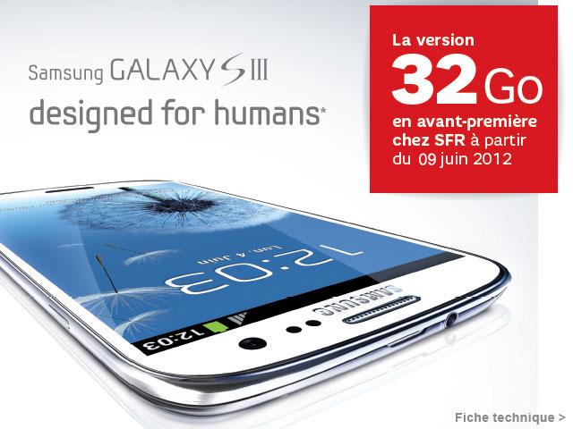 SFR vous propose le Galaxy S3