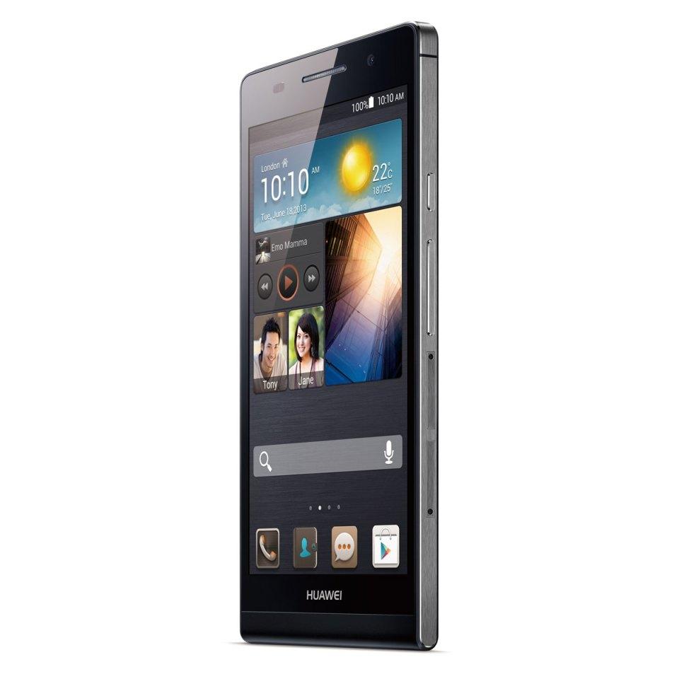 P6 Huawei Noir Vue de 3/4