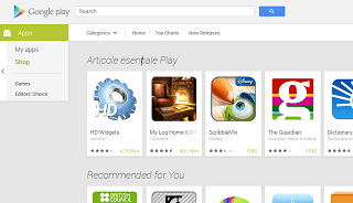 Web-based Google Play Store redesigned