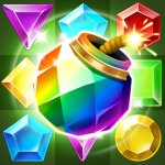Jungle Gem Blast Match 3 Jewel Crush Puzzles 2.2.1 .APK MOD Unlimited money Download for android