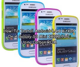 Install Android 4.4.4 KitKat On A Galaxy S3