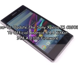 Update The Sony Xperia Z1 C6903