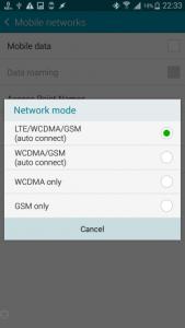 missing 4G/LTE