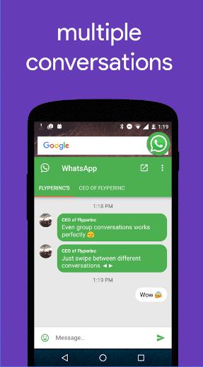 مميزات تطبيق Flychat لهواتف الاندرويد
