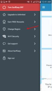 تطبيق SurfEasy Secure Android VPN