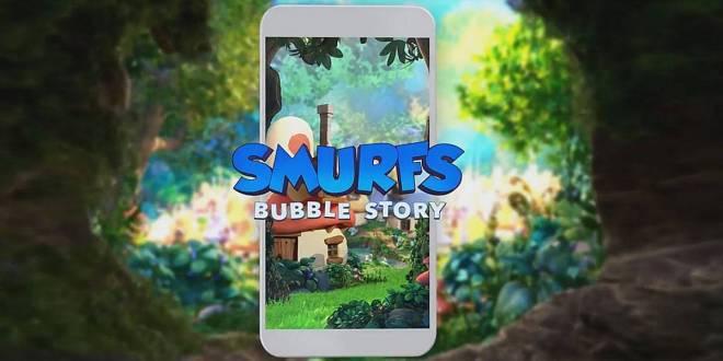 الآن تستطيع تحميل لعبة السنافر smurfs bubble story علي هاتفك الاندرويد مجاناً