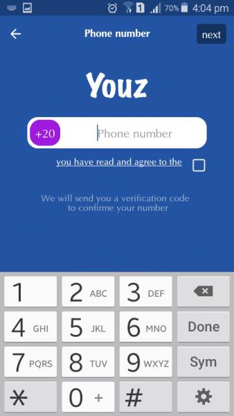 تطبيق االتواصل الاجتماعي السري Youz
