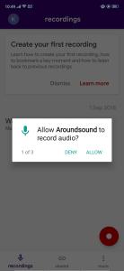 تطبيق arroundsound لتسجيل الصوت