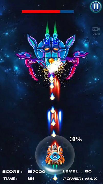 لعبة Space Shooter Galaxy Attack