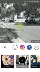 Prisma androidare effetto