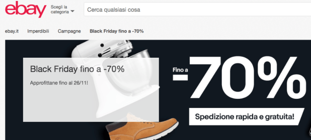 Black Friday di eBay