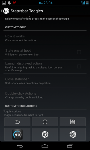 Custom toggles