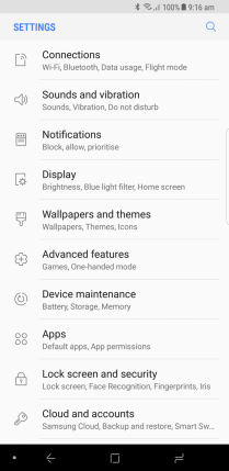 Android O Galaxy S8 theme 2
