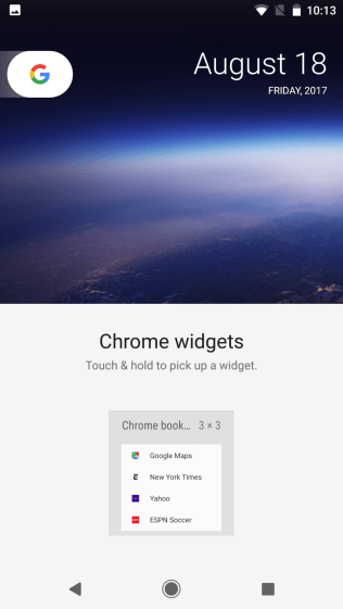 Android O Widgets