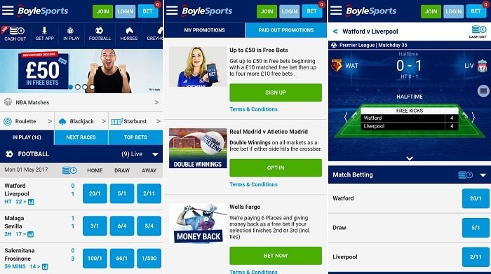 Android app review - Boylesports