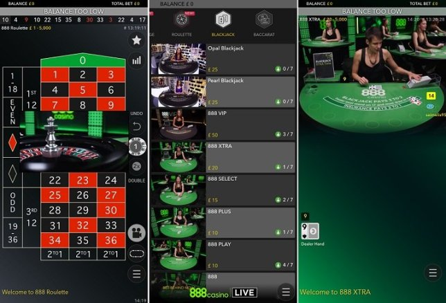 Review of the 888 casino Android app