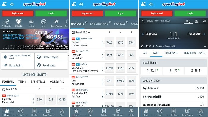 Latest Sportingbet mobile app