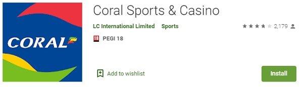 Coral Sports & Casino app