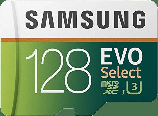 Samsung EVO Select 128GB microSD card