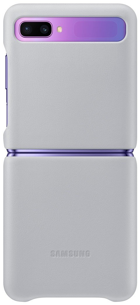 Silver leather case with flap for Samsung Galaxy Z