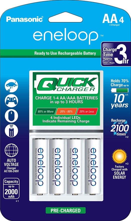 Panasonic Eneloop AA Batteries And Charger